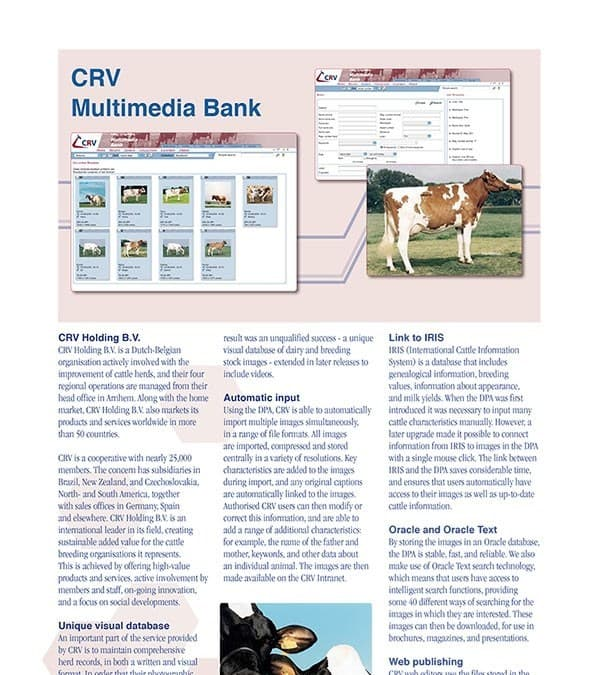 CRV Multimediabank Brochure