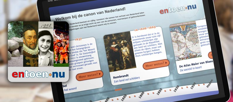 The Entoen Nu app makes history lessons easy